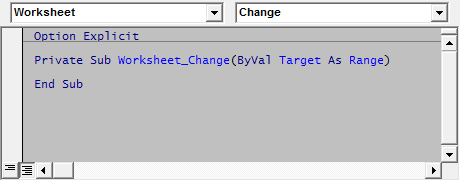 Events In Excel VBA